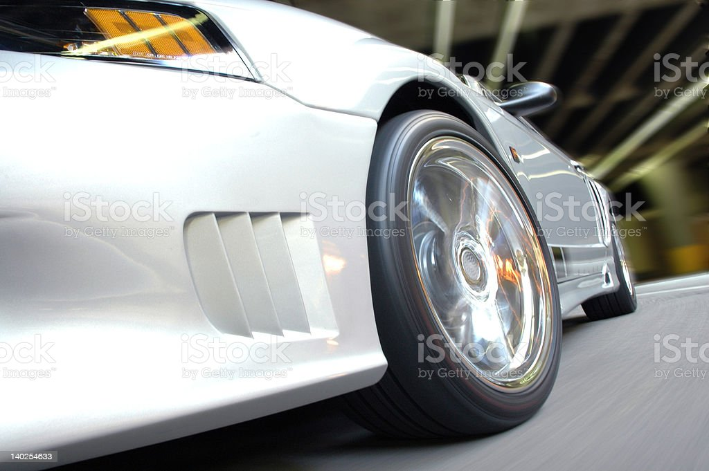 Ford Mustang in motion stock photo
