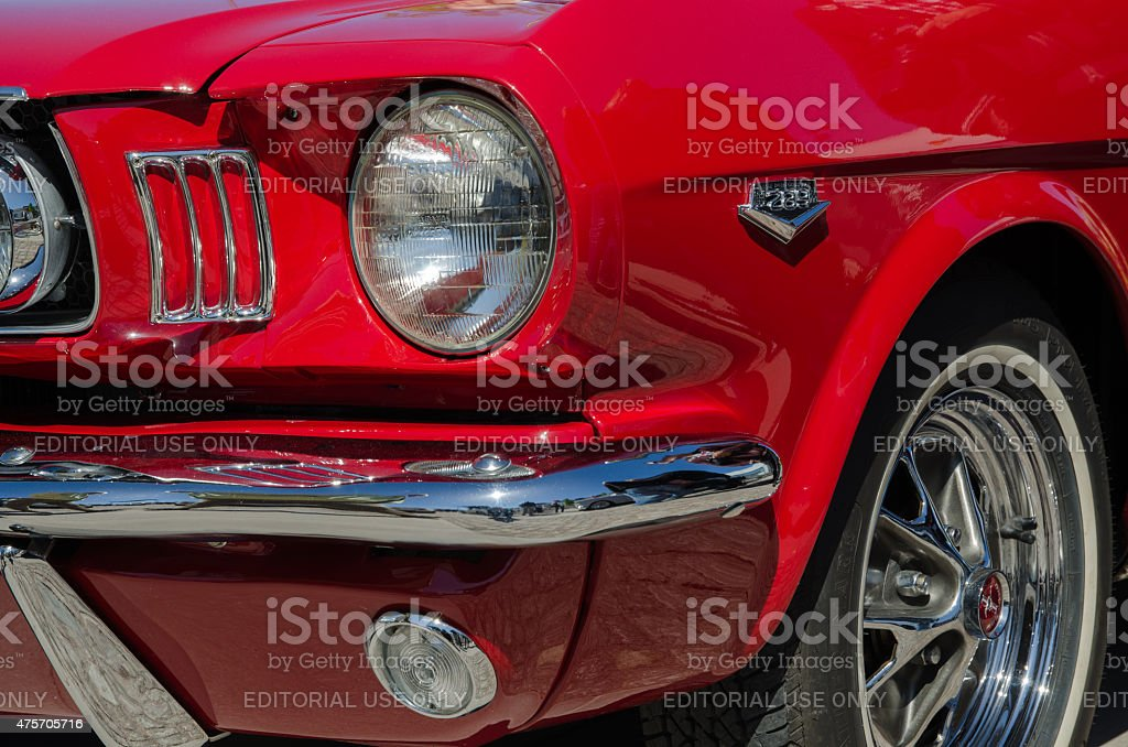 Ford Mustang old timer car stock photo