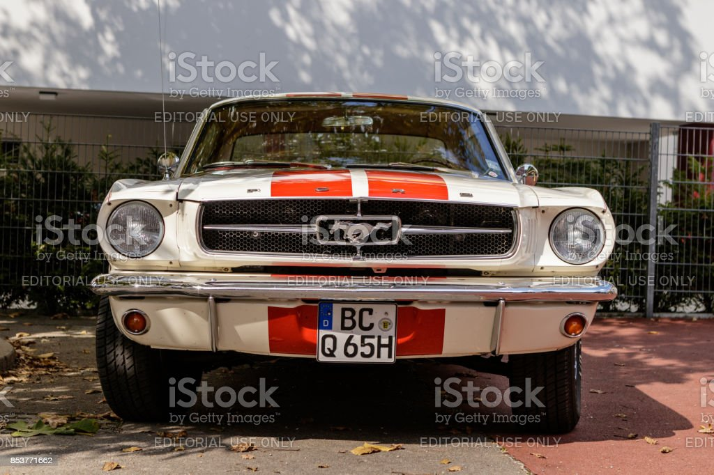 Ford Mustang oldtimer car at the US Car Meeting event on September...