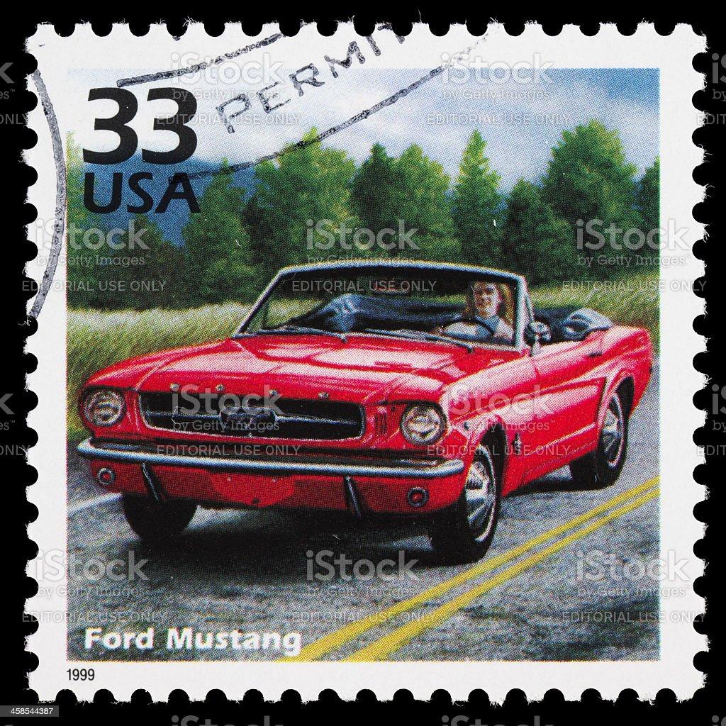 Ford mustang znaczek pocztowy usa zbiór zdjęć royalty free
