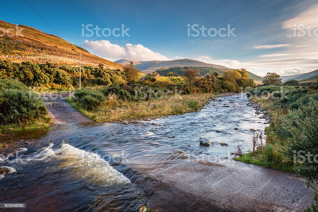 Ford on College Burn and The Cheviot stock photo