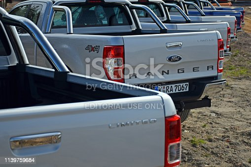 133277230 istock photo Ford pick-up vehicles in a row 1139759684