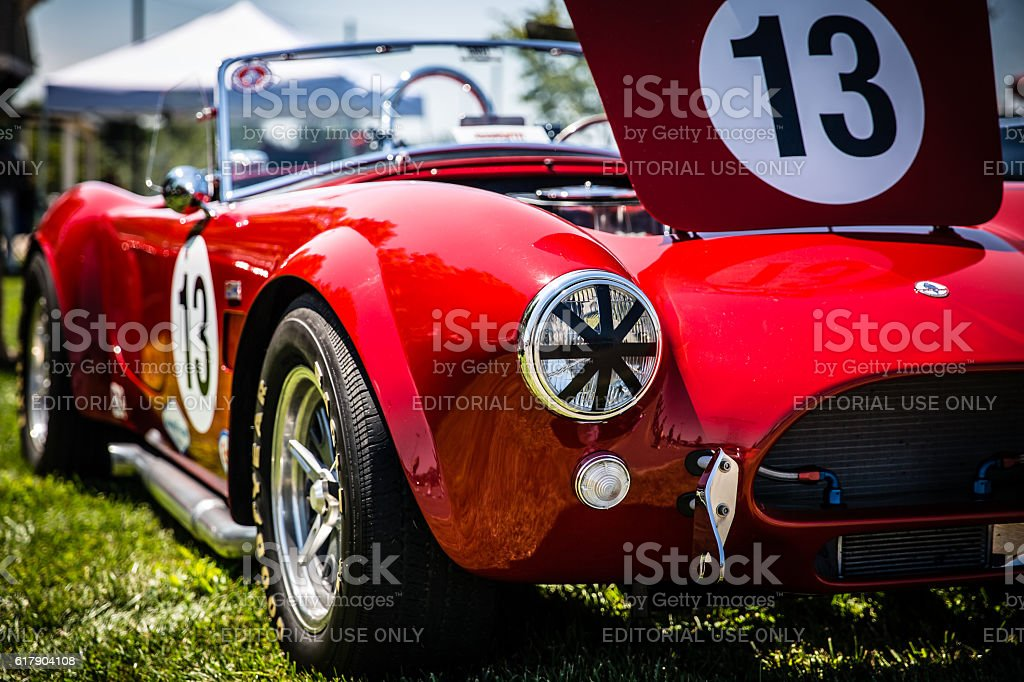 Ford Shelby AC Cobra convertible roadster on display stock photo