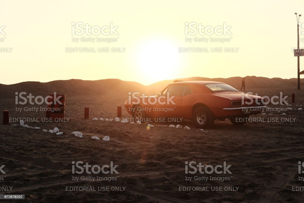 Ford shelby gt500 67on Sunset stock photo