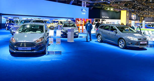 ford stand - ford focus stock photos and pictures