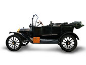 Ford Model T motor car, 1916. This car, with a four-seat tourer body, was made by the Ford Motor Company in Detroit. Using mass production techniques.