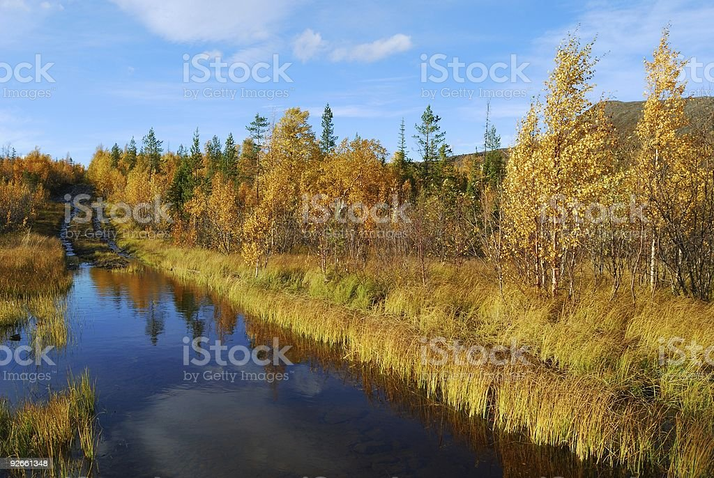 Ford through the small river royalty-free stock photo