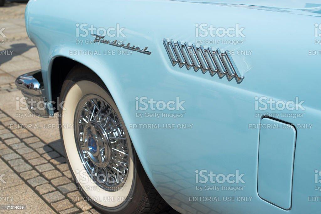 Ford Thunderbird classic car detail royalty-free stock photo