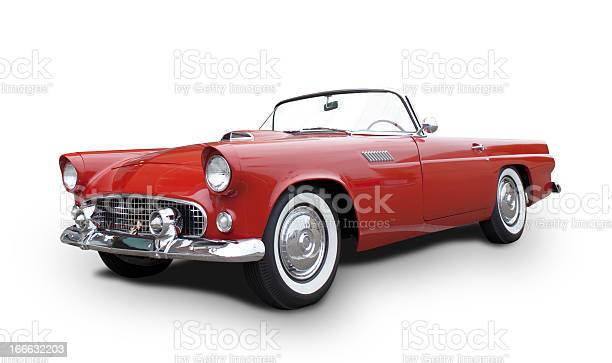 Ford Thunderbird 1955-1957, isolated on white.