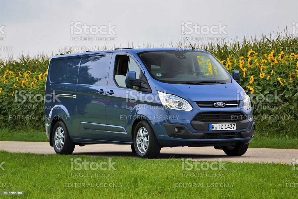 Ford Transit Custom on the road stock photo