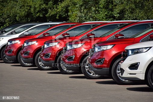 133277230 istock photo Ford vehicles in a row 613037652