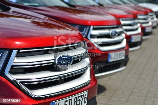 133277230 istock photo Ford vehicles on the parking 592678094