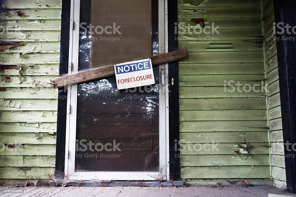 Foreclosed home stock photo