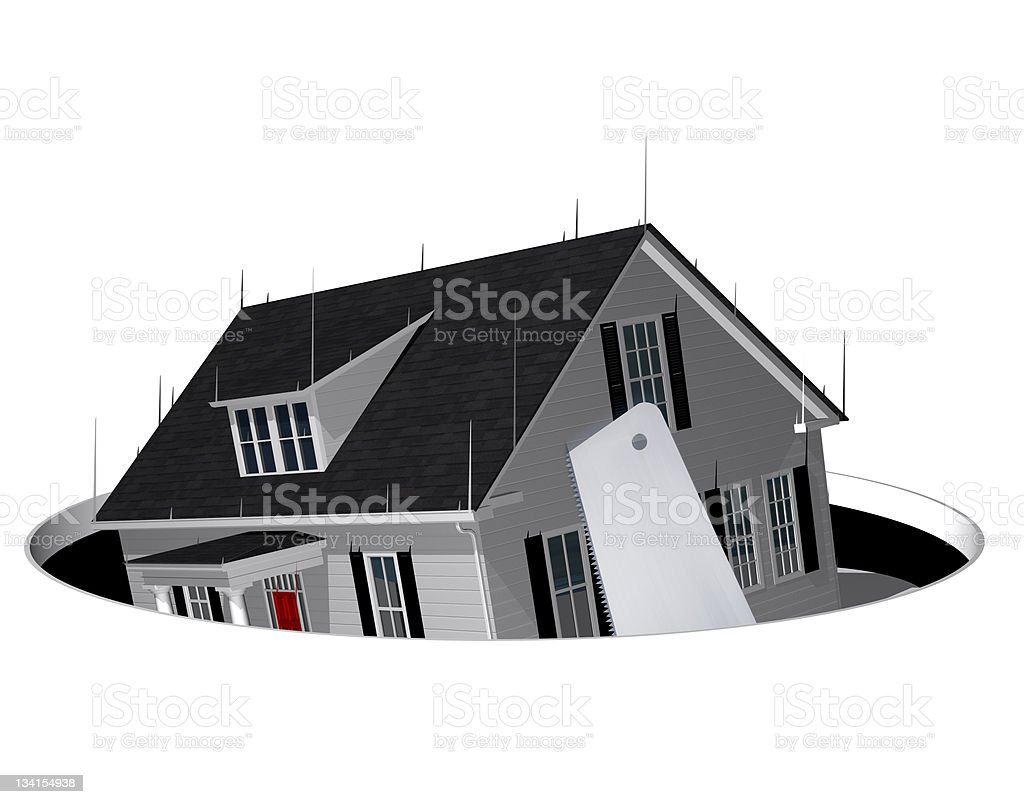 Foreclosed House royalty-free stock photo