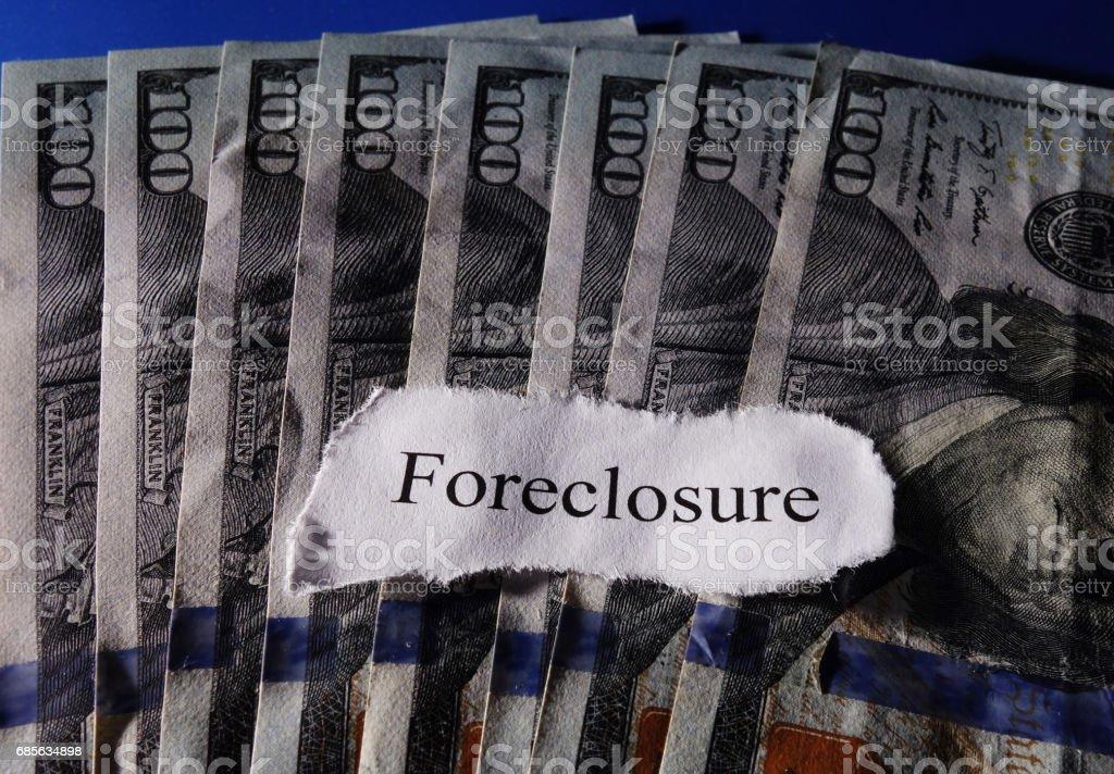 Forecloser headline on cash 免版稅 stock photo