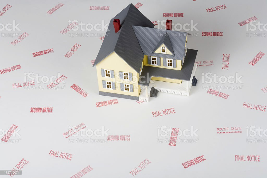 Foreclosure concept shot royalty-free stock photo
