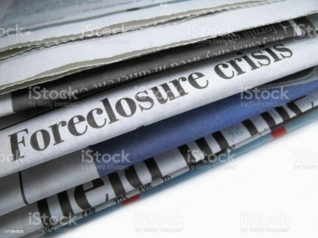 Foreclosure Crisis royalty-free stock photo