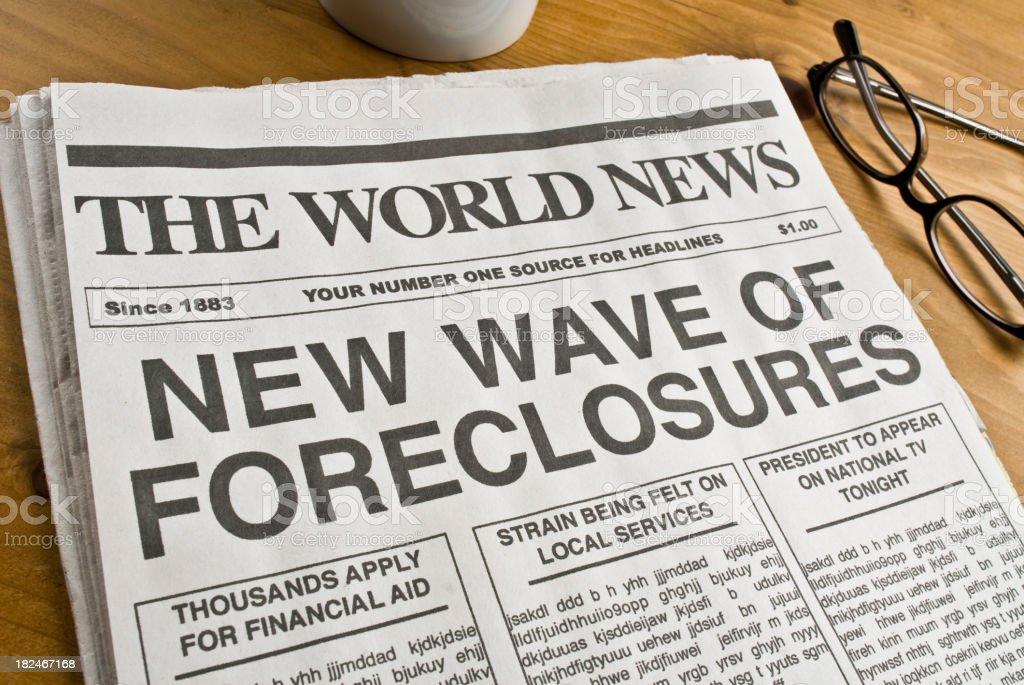 Foreclosure Headline royalty-free stock photo