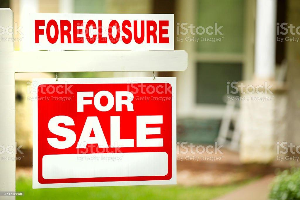 請け戻し権喪失、ハウスの販売サインます。「フロントヤード」をお届けします。ません。 ストックフォト