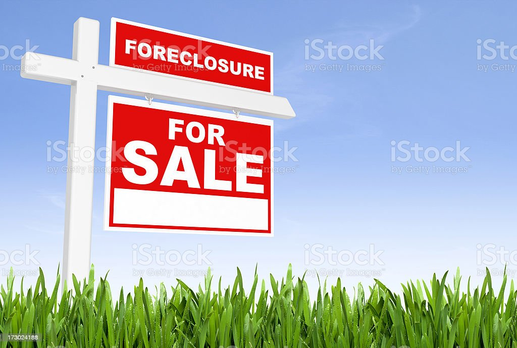 Foreclosure Sign royalty-free stock photo