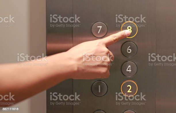 Forefinger pressing the eighth floor button in the elevator picture id882111618?b=1&k=6&m=882111618&s=612x612&h=wklpvak9jjdoiw4vomordf54p6g6ieto2qienpq pdg=