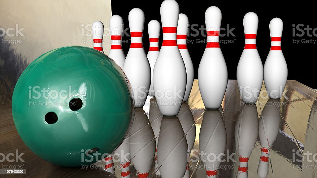 Foreground Game Bowling stock photo