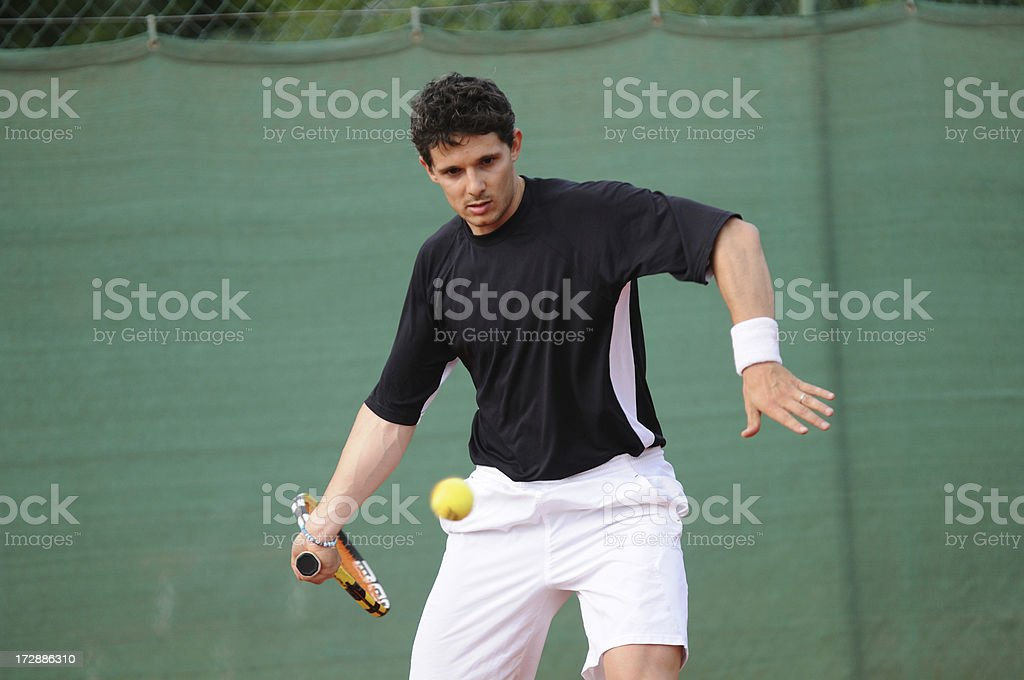 Forehand drive royalty-free stock photo