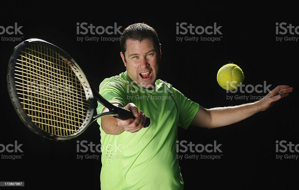 Forehand Tennis Shot royalty-free stock photo