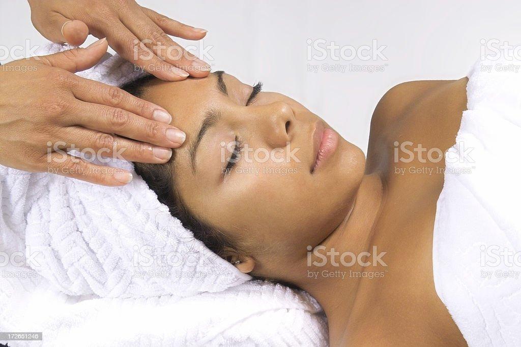 Forehead Massage royalty-free stock photo