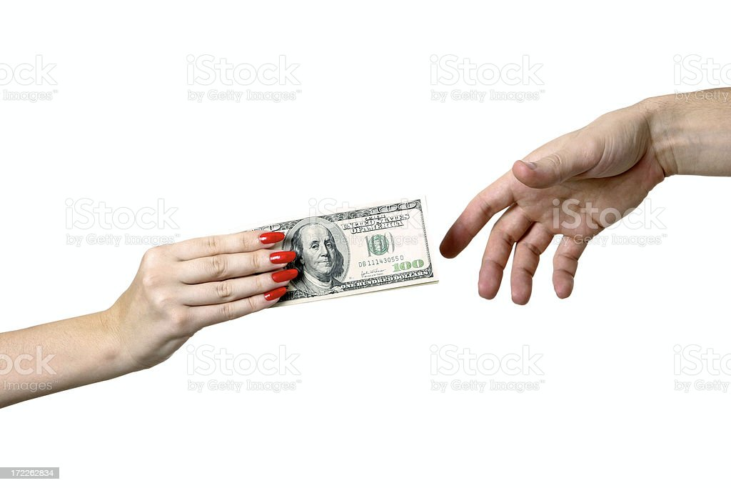 Foreign exchange transaction royalty-free stock photo
