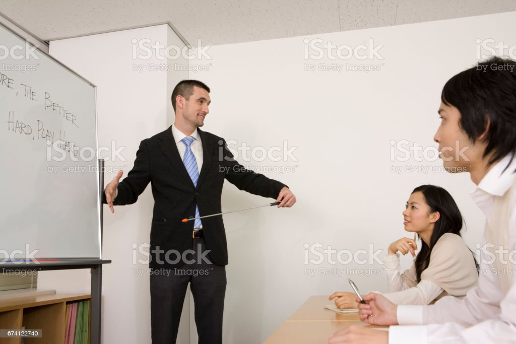 外籍教師教學英語會話 免版稅 stock photo