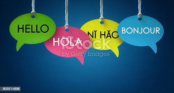 istock Foreign language communication speech bubbles 905514896