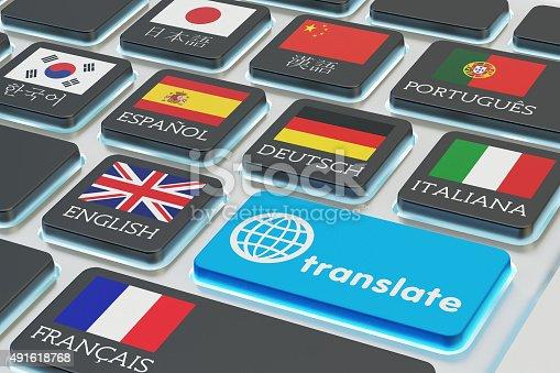 istock Foreign languages translation concept, online translator 491618768