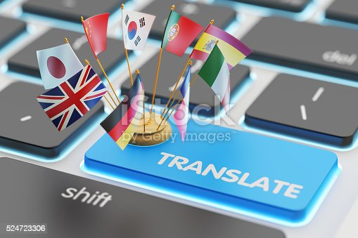 istock Foreign languages translation concept, online translator 524723306