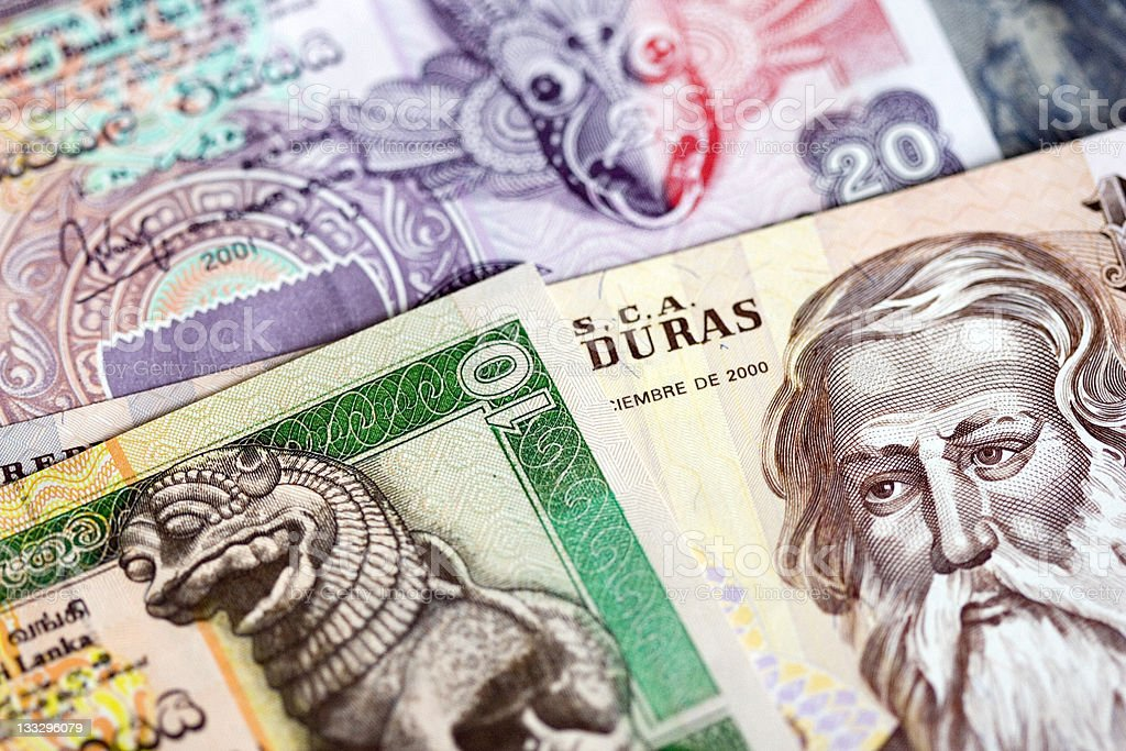 Foreign money stock photo