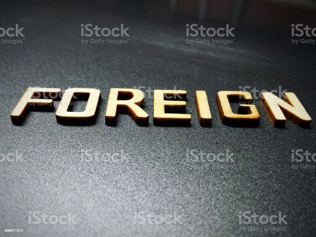 Foreign word quote heading title stock photo