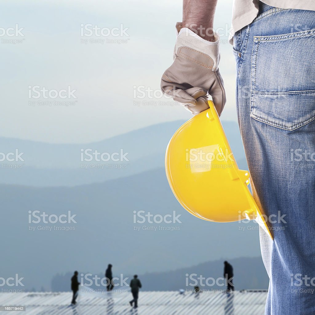 Foreman on a building royalty-free stock photo