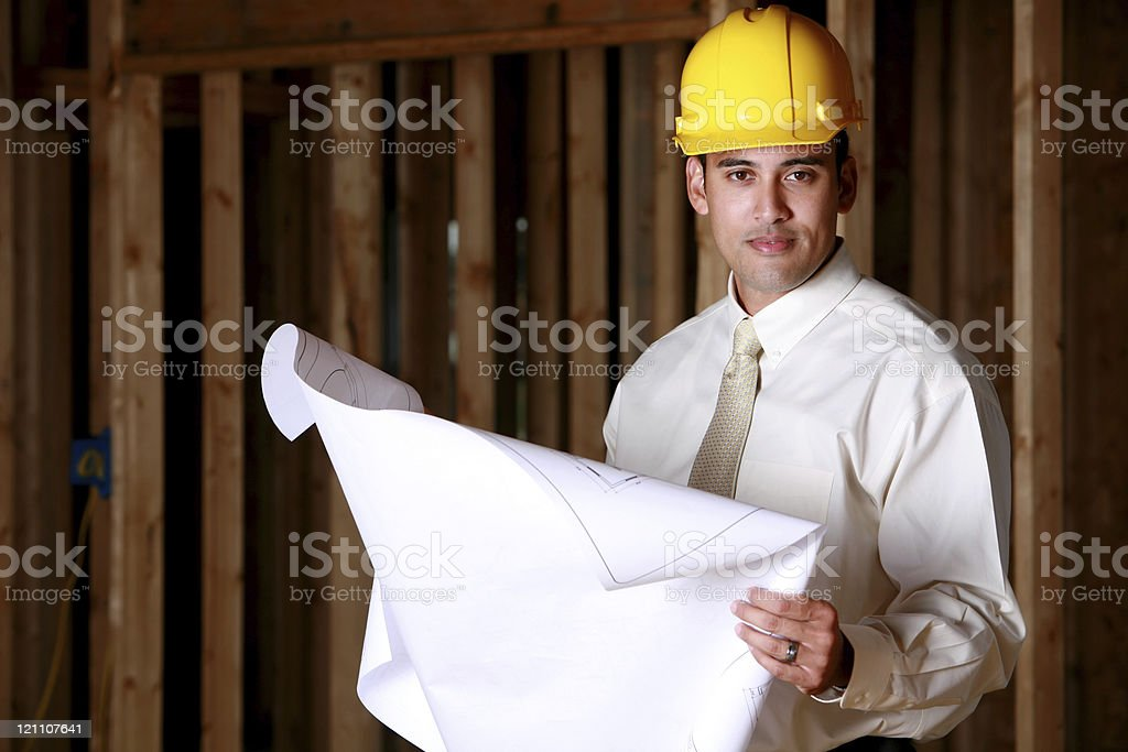 Foreman on a construction site royalty-free stock photo