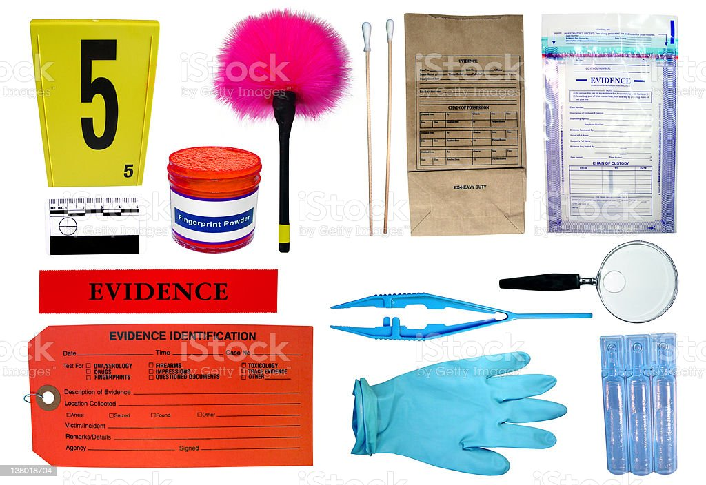 Forensic Investigation kit royalty-free stock photo