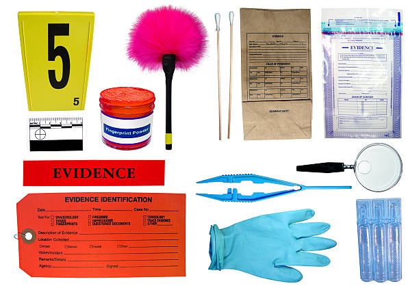 Forensic Investigation kit stock photo