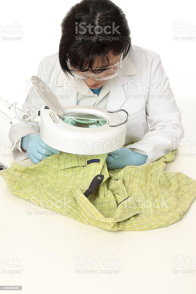 Forensic investigator stock photo