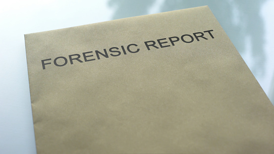 Forensic Report Folder With Important Documents Lying On Table Investigation Stock Photo Download Image Now Istock