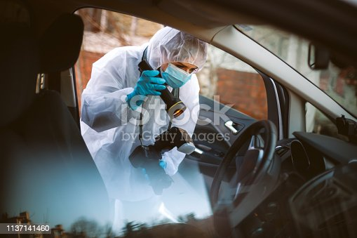 Photographer, Coroner, Crime Scene, Forensic Science, Protective Glove, Evidence