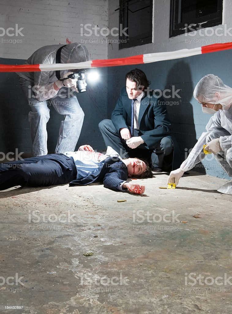 Forensic science stock photo
