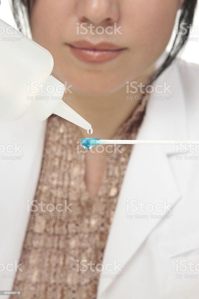 Forensic science swab testing royalty-free stock photo