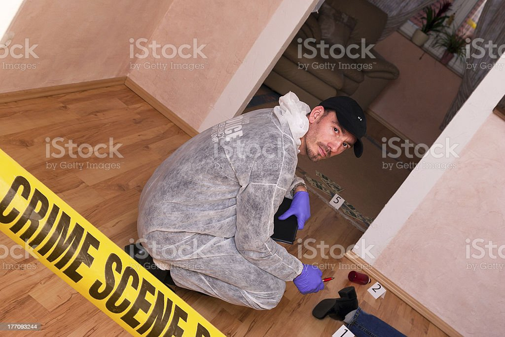 Forensic Staff royalty-free stock photo