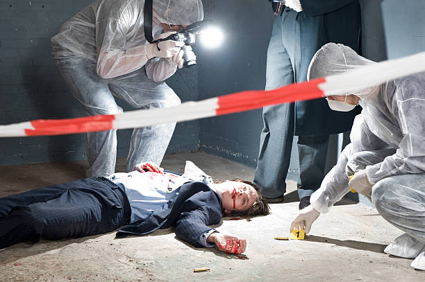 Forensic Team stock photo