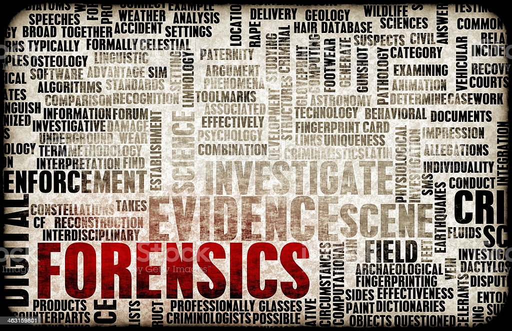 Forensics stock photo