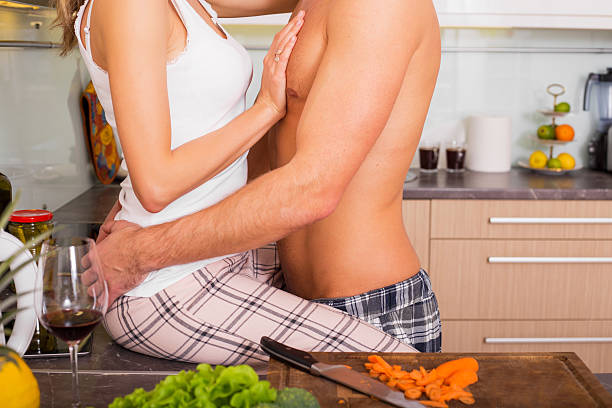 Kitchen Counter Sex Stock Photos Pictures Royalty Free