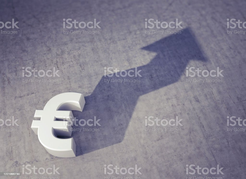 Foreshadowing: Rising Value of the Euro Currency - Royalty-free Anticipation Stock Photo